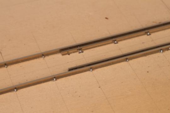 Gleisbau, Eigenbau, Gleisnägel, Schienen, Feldbahn, Modell