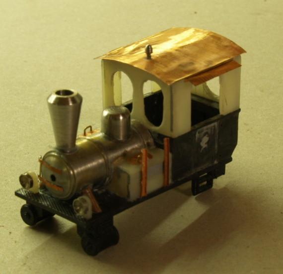 Umbau, Dampflok, H0e, HOe, Waldbahn, Modell, Holzfeuerung