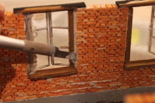 Feldbahn, Lokschuppen, Eigenbau, 1:35, Modellbahn, Fenster, Holz
